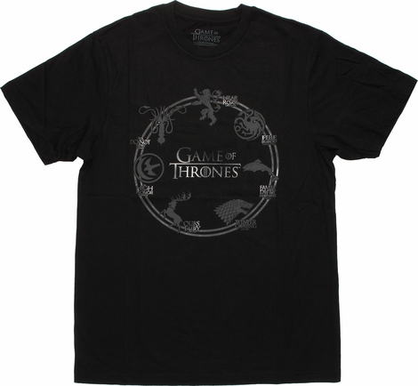 Game of Thrones House Sigil Ring T Shirt Sheer