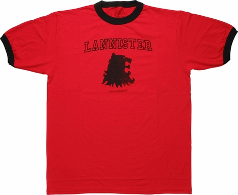 Game of Thrones Lannister Insignia Ringer T-Shirt