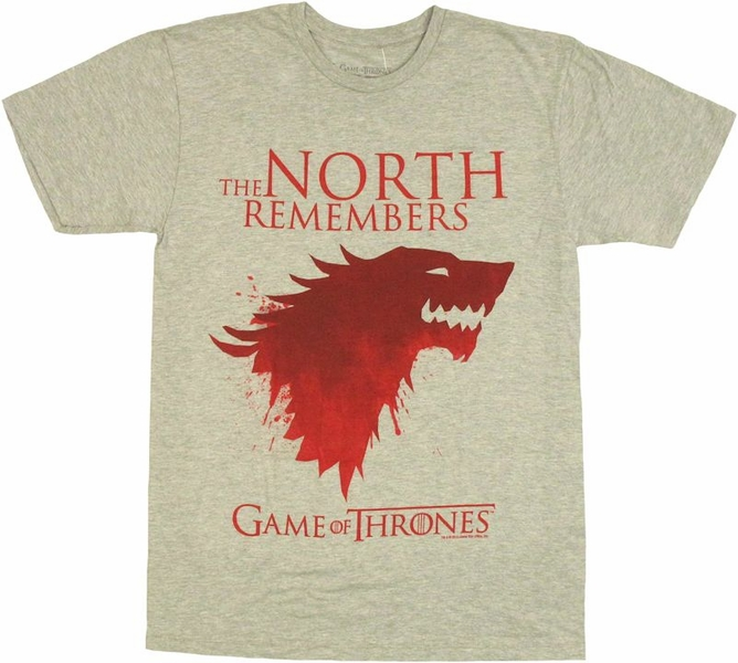 Game of thrones north remembers t shirt sheer for Game of thrones dress shirt