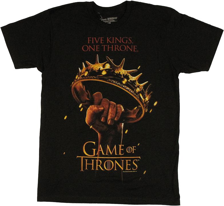 Game of thrones one throne t shirt sheer for Throne of games shirt