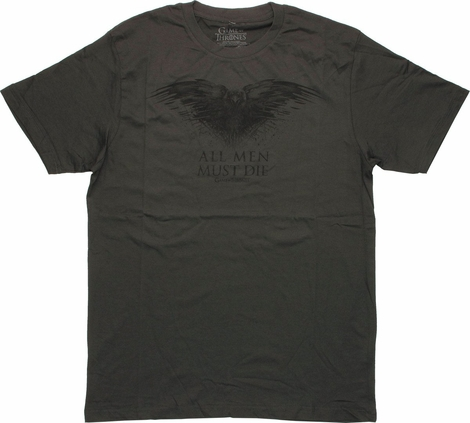 Game of Thrones Raven All Men Must Die T Shirt Sheer