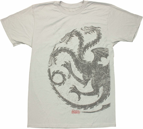 Game of Thrones Targaryen Gray T Shirt Sheer