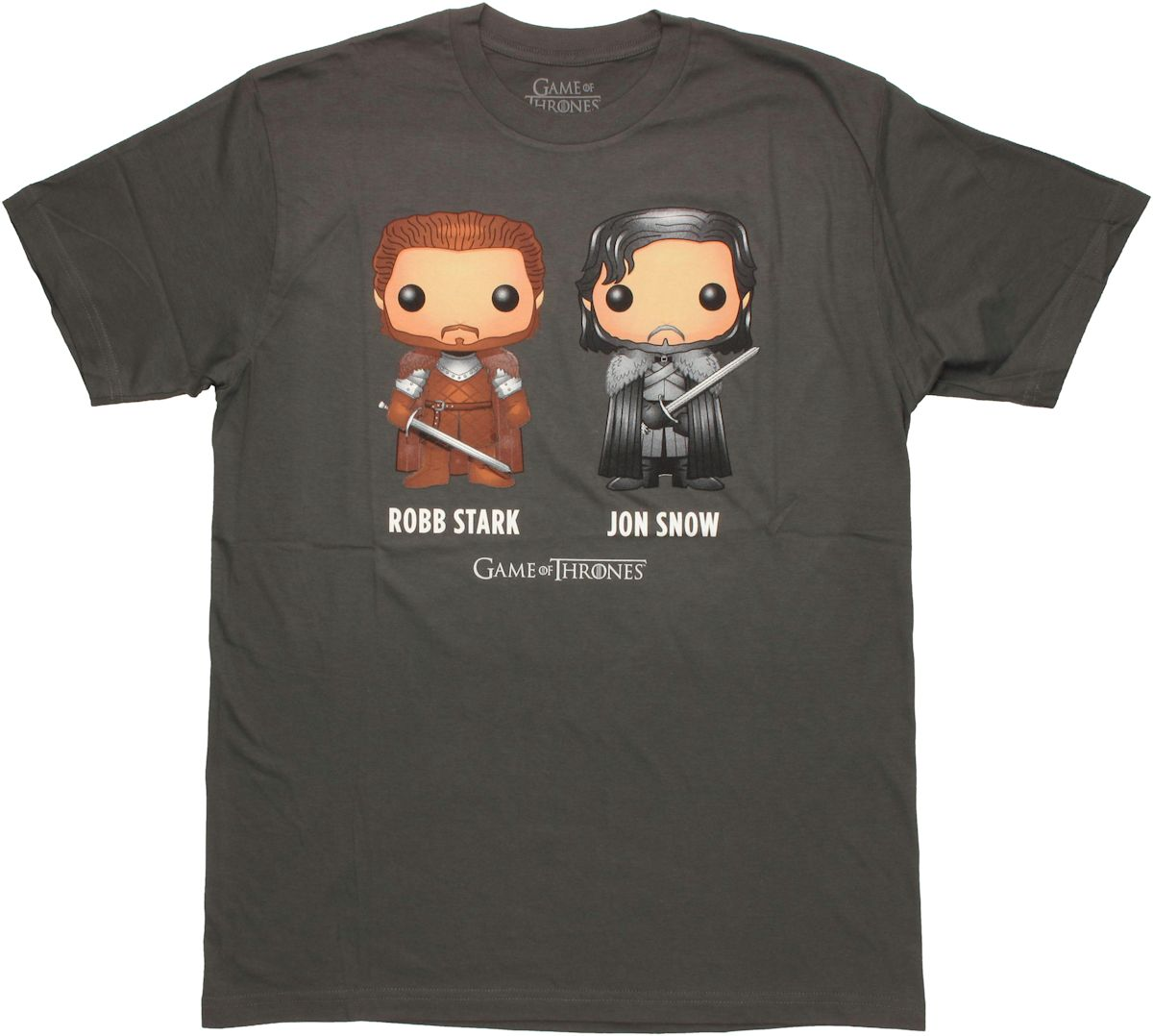 Game of thrones toon robb jon t shirt sheer for Throne of games shirt