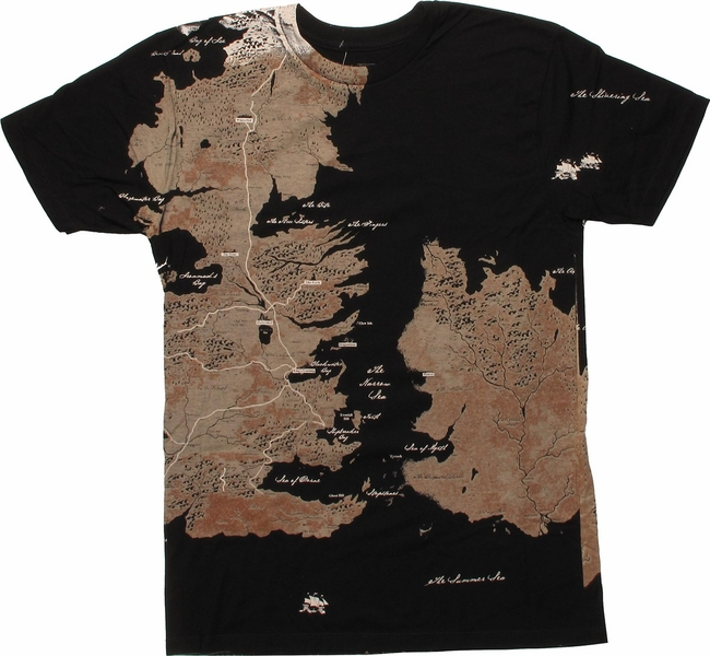 game of thrones westeros map wrap t shirt. Black Bedroom Furniture Sets. Home Design Ideas
