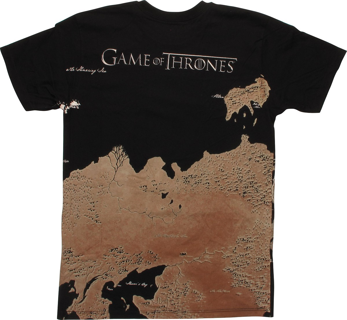 Game of thrones westeros map wrap t shirt for Game of thrones dress shirt