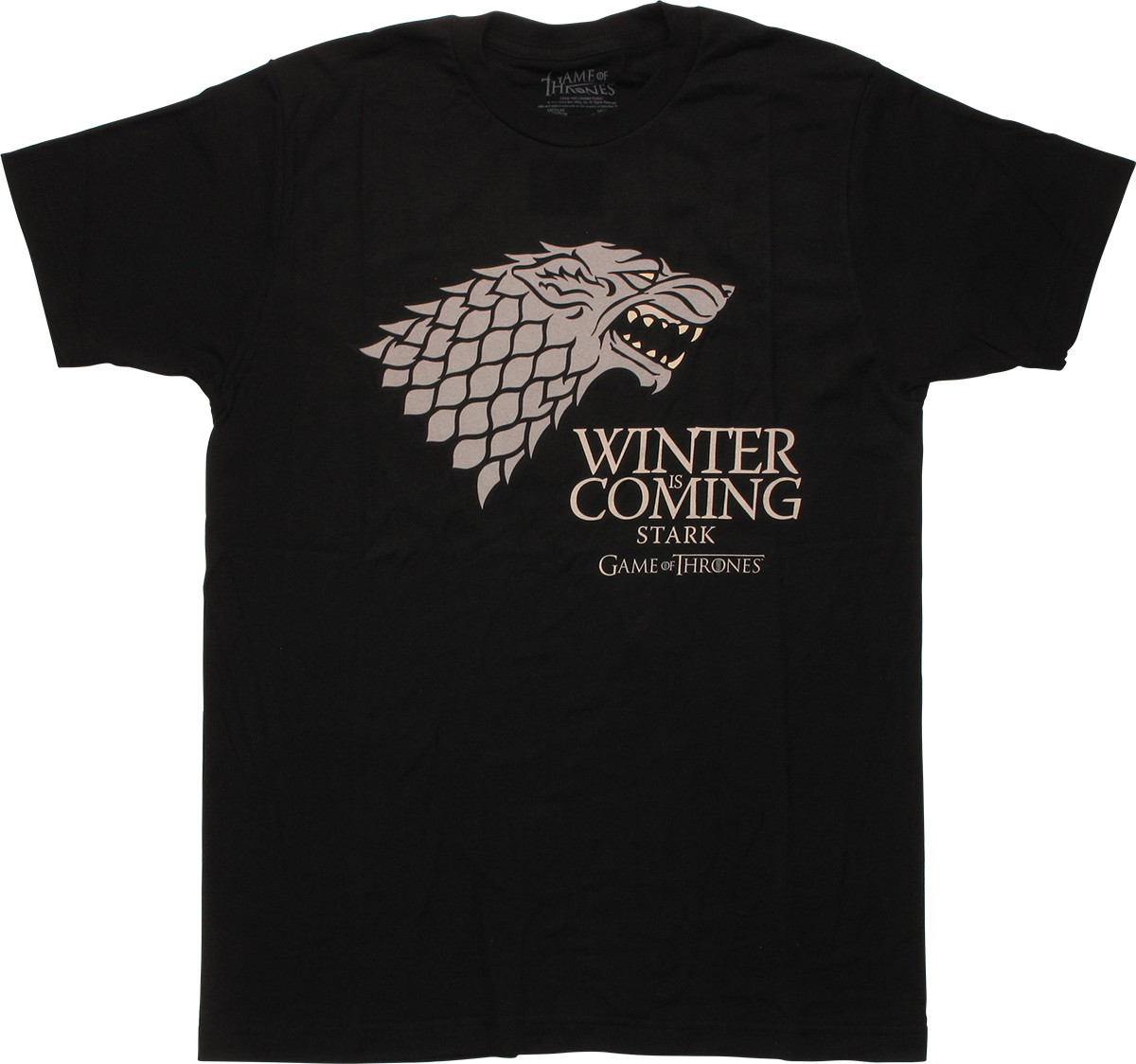 Game of thrones winter is coming stark t shirt for Throne of games shirt