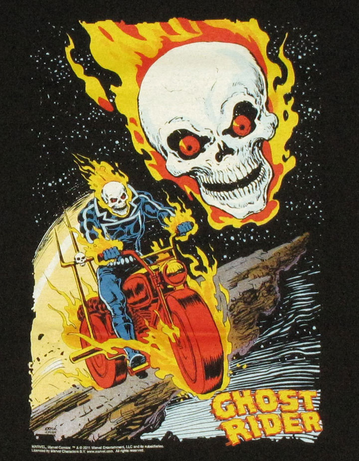 Ghost rider comic t shirt for Comic t shirts online