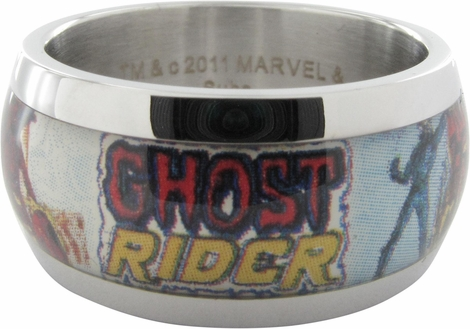 Ghost Rider Name Skull Bike Ring