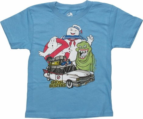 Ghostbusters Car and Characters Juvenile T-Shirt