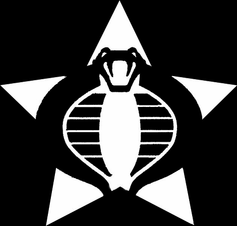 GI Joe Cobra White Decal