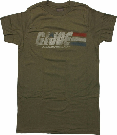 GI Joe Faded Logo T-Shirt Sheer