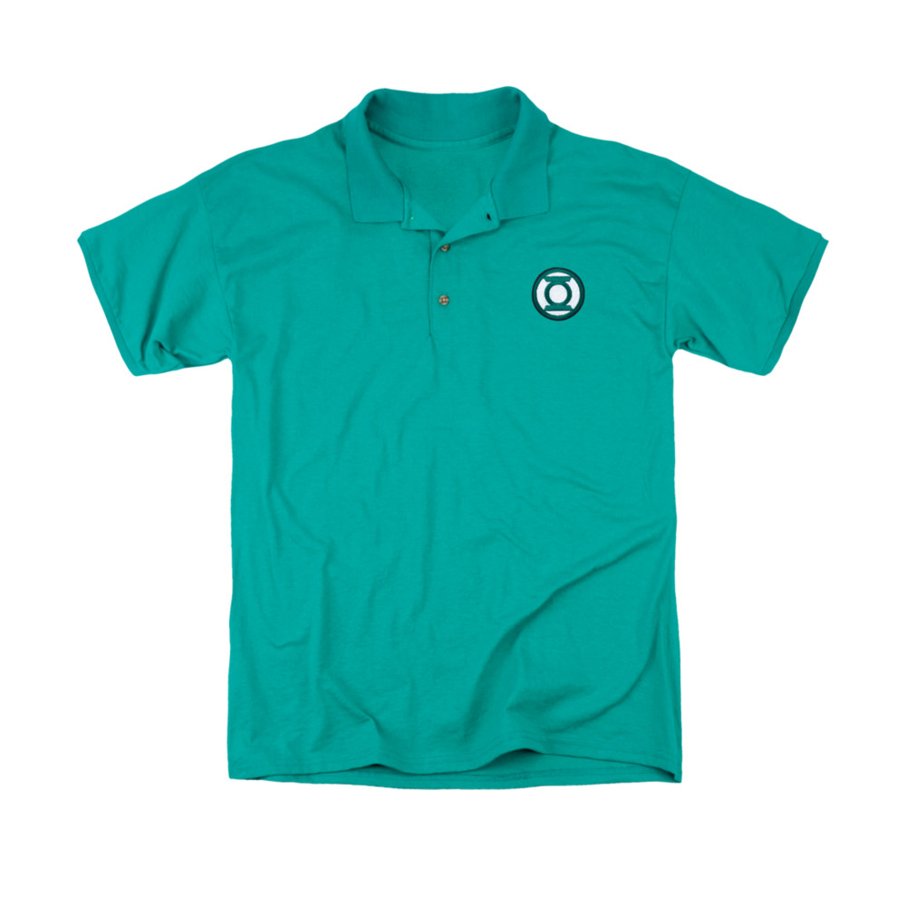 Green lantern embroidered logo polo shirt for Polo shirts with logos