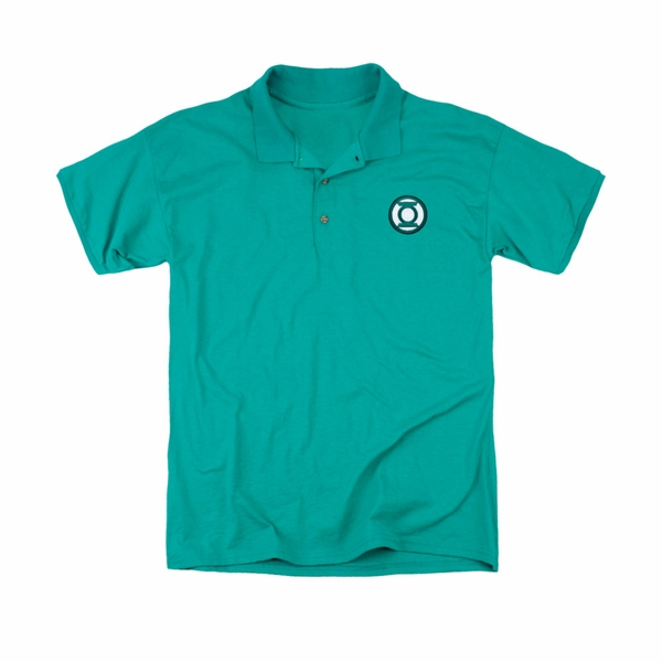 Green lantern embroidered logo polo shirt for Logo embroidered polo shirts