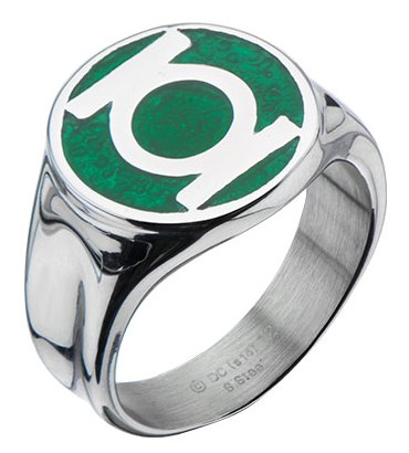 Green Lantern Logo Enamel Ring