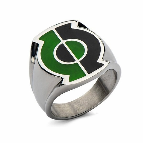 Green Lantern Split Logo Ring