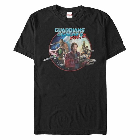 Guardians of the Galaxy Vol 2 Circle Group T-Shirt