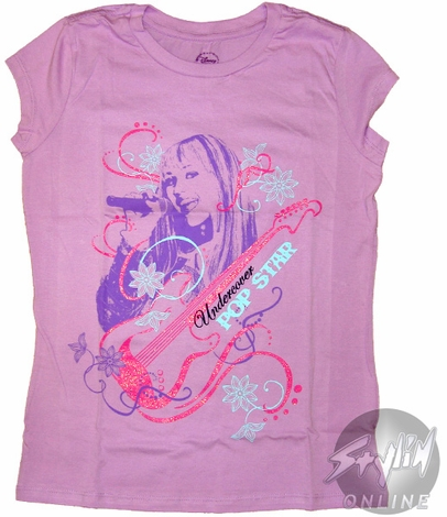Hannah Montana Undercover Pop Star Tween T-Shirt