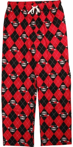 Harley Quinn Black and Red Checkered Lounge Pants
