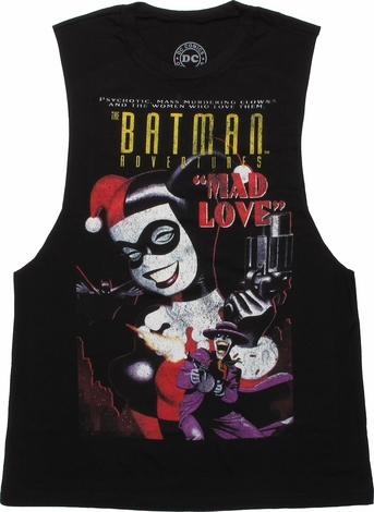 Harley Quinn Mad Love Cover Muscle Ladies Tee