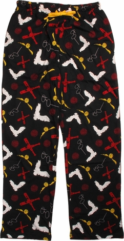 Harry Potter Glasses Bludger Quidditch Lounge Pants