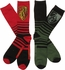 Harry Potter Gryff and Slyth 2 Pack Crew Socks Set