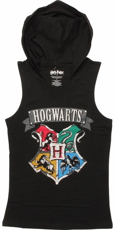 Harry Potter Hogwarts Hooded Juniors Tank Top