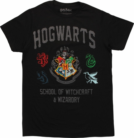 Harry Potter Hogwarts School Vintage T-Shirt