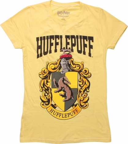 Harry Potter Hufflepuff Crest Juniors T-Shirt