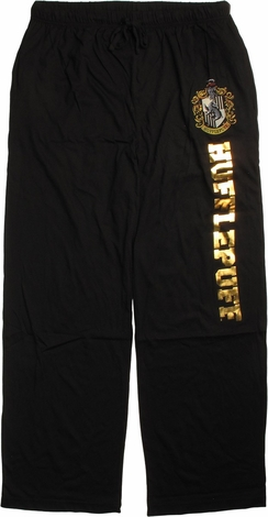 Harry Potter Hufflepuff Gold Foil Lounge Pants