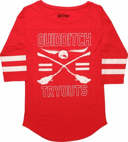 Harry Potter Quidditch Tryouts LS Ladies T-shirt