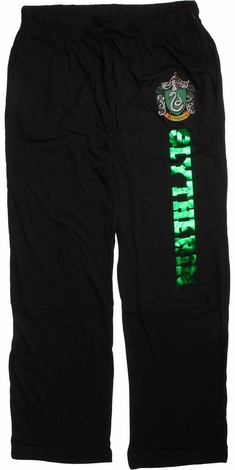 Harry Potter Slytherin Green Foil Lounge Pants