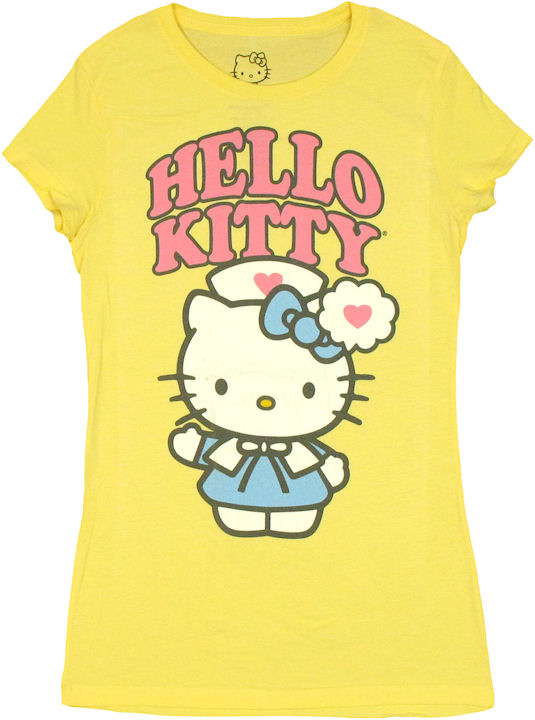 Hello kitty nurse baby tee for Hello kitty t shirt design