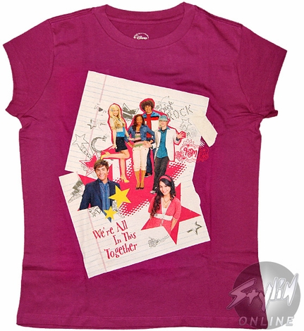 High School Musical Together Tween T-Shirt