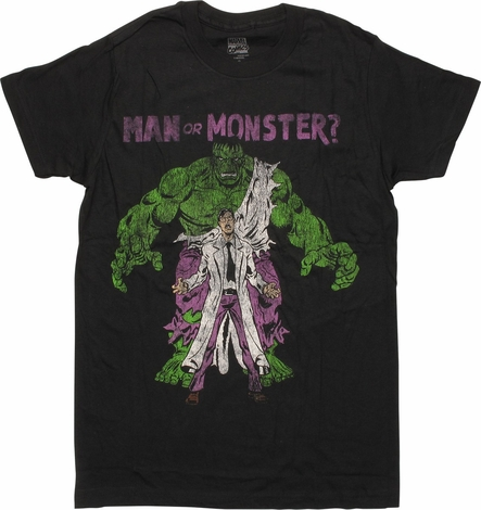 Incredible Hulk Man or Monster T-Shirt