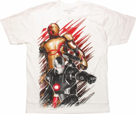 Iron Man 3 50 Caliber Duo White T-Shirt