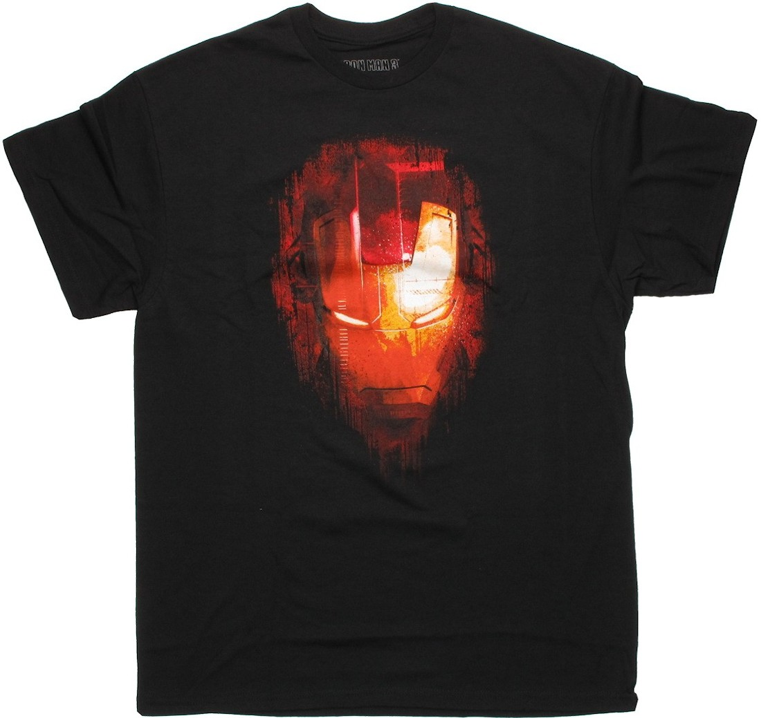 iron man 3 fade face t shirt. Black Bedroom Furniture Sets. Home Design Ideas