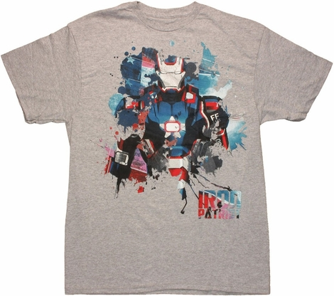 Iron Man 3 Patriot Foil T Shirt