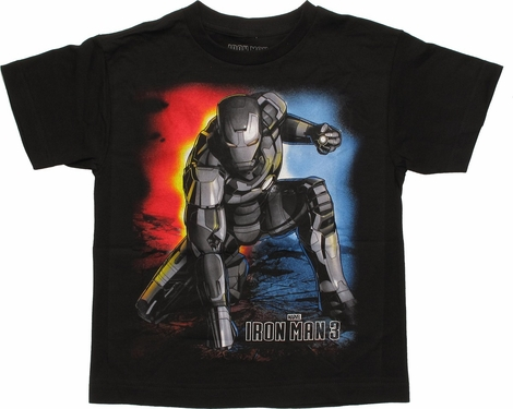 Iron Man 3 Superhero Landing Youth T-Shirt