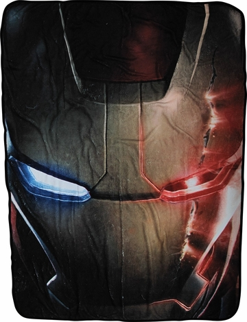 Iron Man Age of Ultron Face Fleece Blanket
