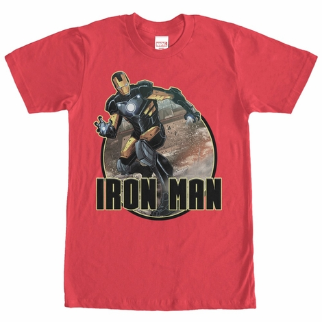 Iron Man Black Gold Circle T-Shirt