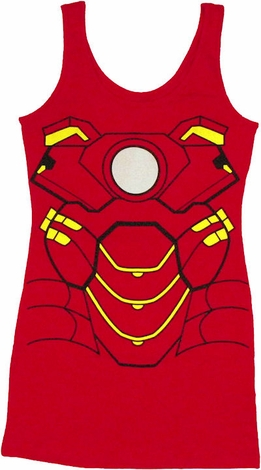 Iron Man Costume Tank Top Dress