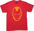 Iron Man Helmet Outline T-Shirt