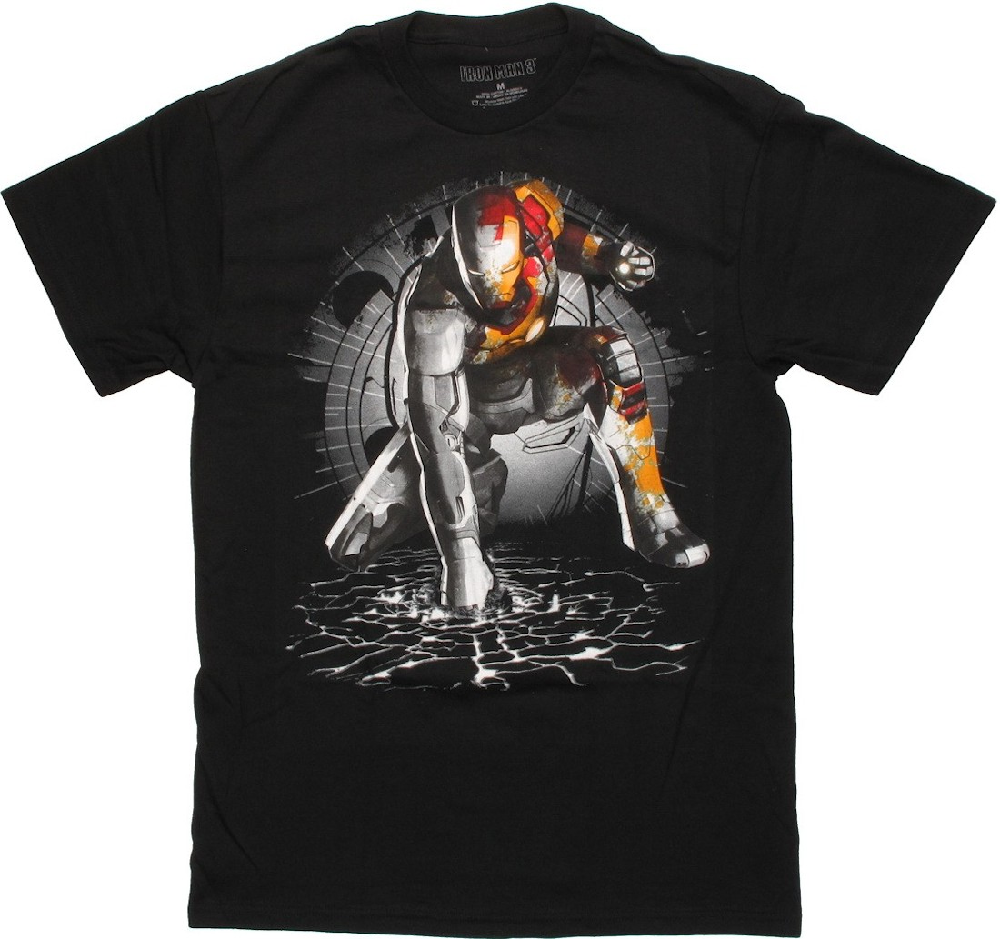 iron man punch ground t shirt. Black Bedroom Furniture Sets. Home Design Ideas