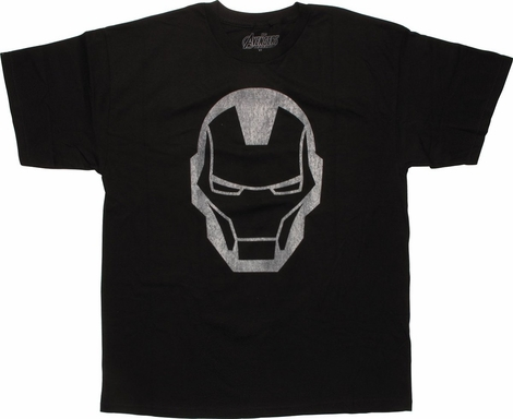 Iron Man Simple Helmet T-Shirt