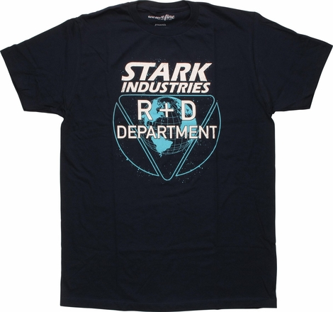 Iron Man Stark Industries Department T-Shirt Sheer