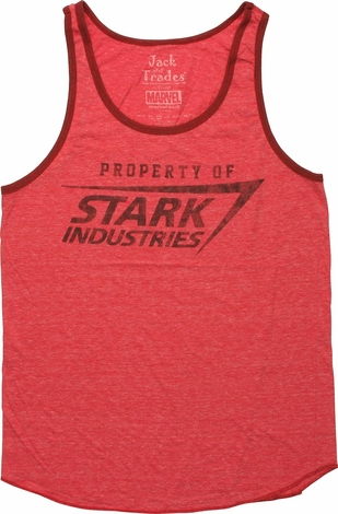 Iron Man Stark Industries Ringer Tank Top
