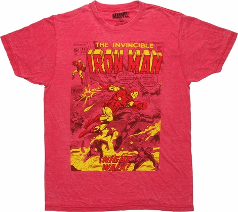 Iron Man The Invincible Comic Cover T-Shirt Sheer