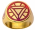 Iron Man Triangle Arc Reactor Gold Plated Ring