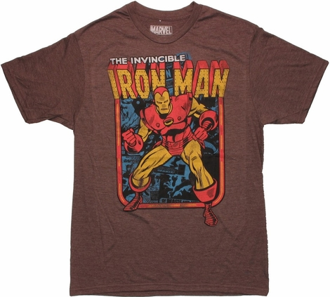 Iron Man Vintage Framed T Shirt Sheer