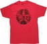 Iron Man War Machine Logo Red T Shirt Sheer